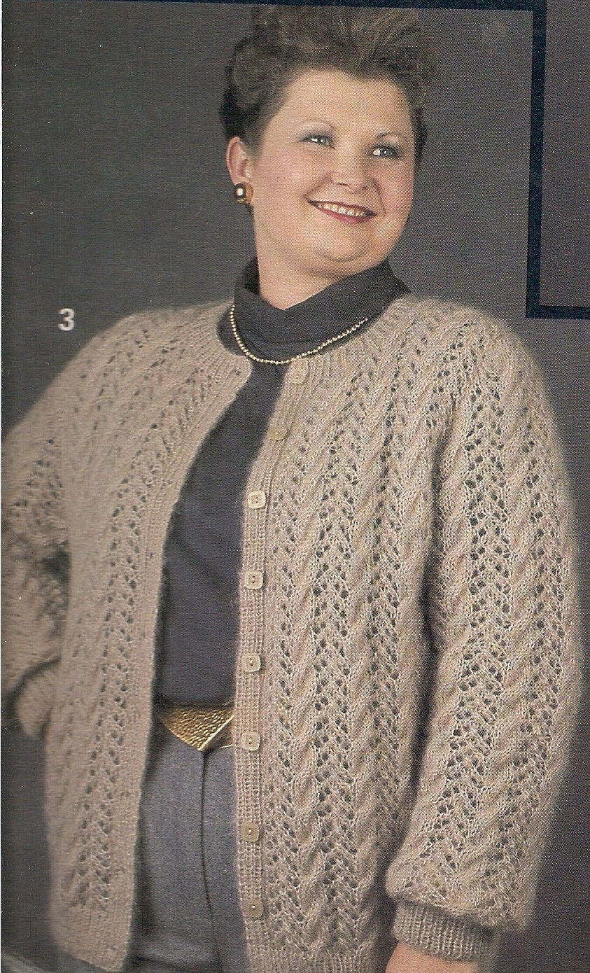 Vintage plus size cardigan sweater with lace knitting pattern pdf vintage plus size cardigan sweater with lace knitting pattern pdf pattern bankloansurffo Gallery