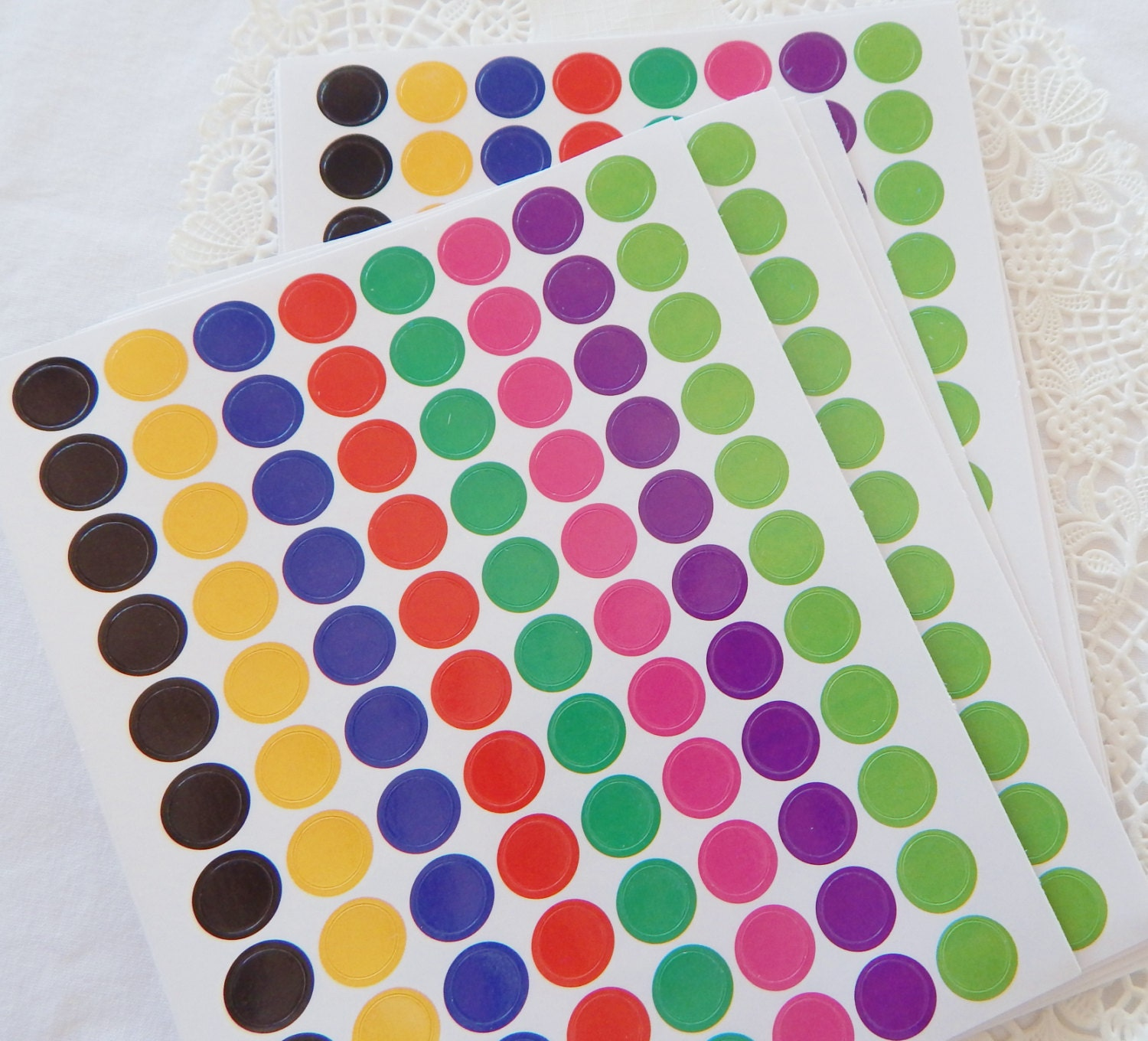 Mini Multi Color Planner Stickers Round Dot By Paperplaypen