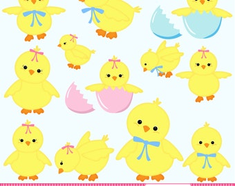 easter chicks clip art easter clip art yellow chicks easter digital ...
