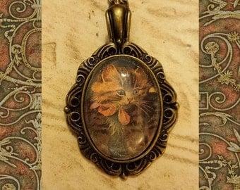 Victorian Kitten Necklace
