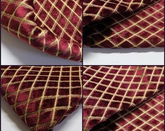 Kravet Couture -  Upholstery fabric- Garnet-Diamond-pc-25inchx36inch- Luxury Fabric -Velvet