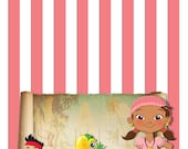 Izzy - Jake and the Neverland Food Tent Cards - INSTANT DOWNLOAD - Foldable Food Tent Cards