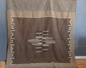 Large Southwestern Wool Rug - Excellent Condition - 6 Feet x 9 Feet
