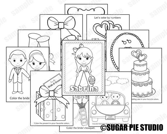 printable flower girl or ring bearer wedding activity book