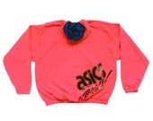 Rare 90s Neon Asics Beach Volleyball Windbreaker - L