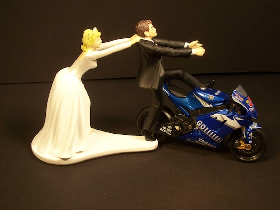 Come Back Motorcycle Blue Go YAMAHA Racing Sponsors Bride