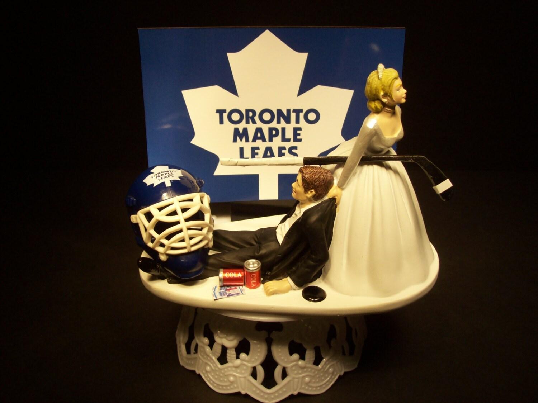 Hockey Sports Team TORONTO MAPLE LEAFS Bride And Groom Wedding