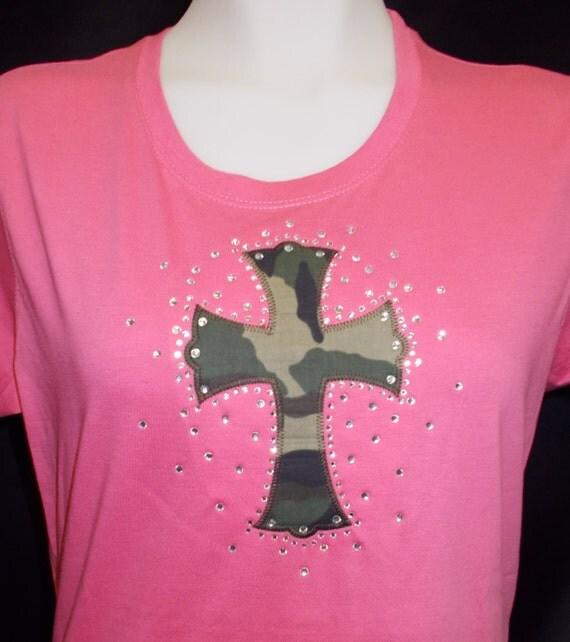 Applique cross shirt for Applique shirts for sale