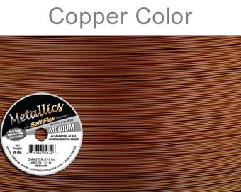 Soft Flex Medium in Metallic Copper Stainless Steel 30ft Spool .019 inch 26lb test