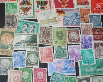 50 German stamps  very fine condition Some better issues included Some Mint included