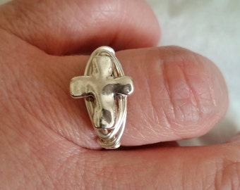Cross Wire Wrapped Ring