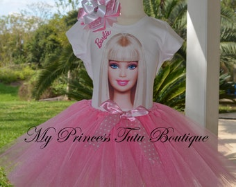 Barbie Tutu Set Barbie Tutu Dress Girls Tutus Barbie Theme Tutus Barbie Birthday Party