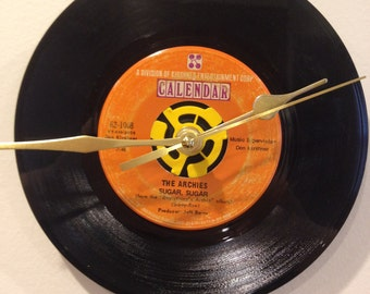 "The Archies ""Sugar, Sugar"" 45 RPM Record Clock"