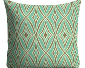 beautiful outdoor pillow, mint green pillow, pillow cover, outdoor chair pillow, big outdoor pillow, 12 x 18 pillow, 18 x 18 pillow, lumbars