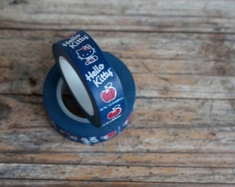 Japanese Washi Tape - Masking Tape roll in Hello Kitty - Blue