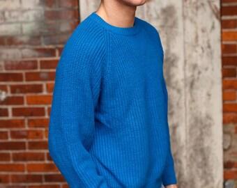 Blue Blue Men's Sweater - Moss Creek Trader - L