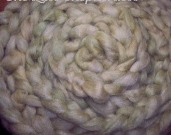 "Hand dyed Coopworth Wool  Roving.  8 oz.""Moss """