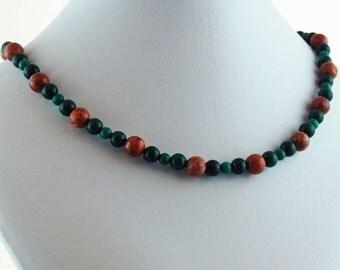 Jade Jasper Natural Stone Choker Necklace