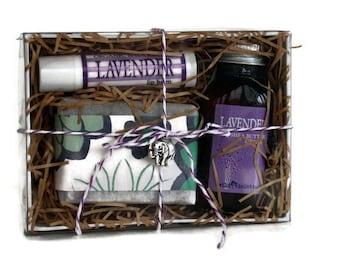 Lavender Mini Spa Gift Set / Soap, Lotion, Lip Balm