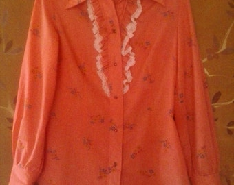 80s flowered and frilly Western shirt by Tem Tex