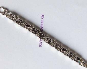 "Handmade 8"" Smokey Olive CRYSTAL BRACELET  Genuine Swarovski Crystals Silver Magnetic Clasp Pure Sparkle"