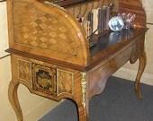 French Desk / Antique / Bronze Dore