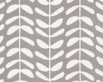 Cloud9 Organic Fabrics - Yoyogi Park - Vines Gray(Canvas) 1/2 YD