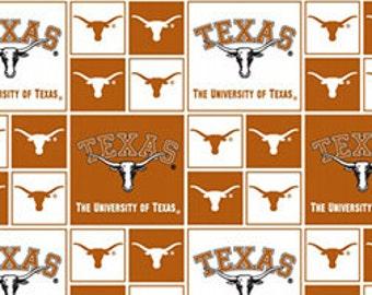 "END OF BOLT - University of Texas Longhorn Fabric - 26"" X 44"""