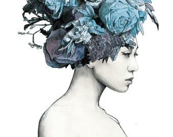 Floral Fashion Watercolour illustration giclée Print