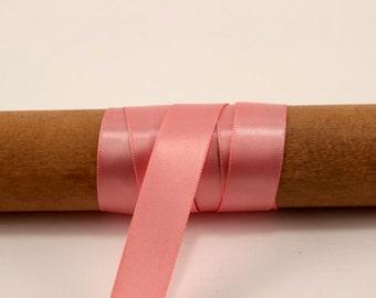 Rose Pink Satin Ribbon - 100 Yards - 5/8 inch - Invitation Making, Wedding, Shower