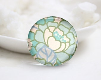 10mm 12mm 14mm 16mm 18mm 20mm 25mm 30mm Handmade Round  Photo Glass Cabochon Dome Flower Pattern Glass Cabs    (P2558)