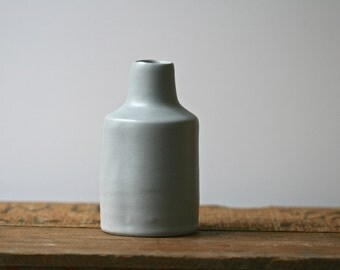 Bottle vase, SIMPLE from ColourBlock series, contemporary home decor, handmade porcelain.
