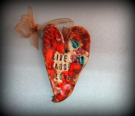 Hanging Heart Wall Decor : Wall heart ceramic decor hanging