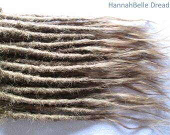 """CUSTOM Human hair dreadlock extenders extensions, 14"""" hair, 20 pcs"""