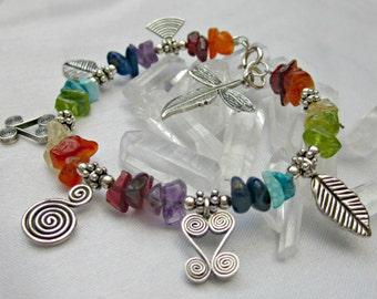 fine silver chakra awesome charm bracelet