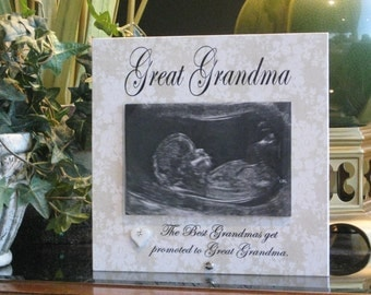 great grandma gift select any grandmother name great grandma picture frame 4 x 6 photo saying choice ceramic heart with crystal