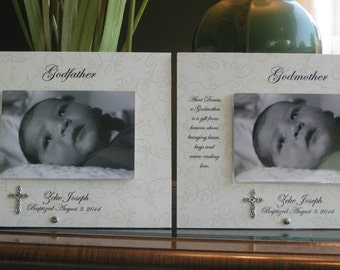 Godfather Gift, Personalized Godfather Gift, Saying Choice, 4 x 6 photo, This LISTING Is For ONE FRAME