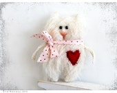 Hand Toy Cat 10 cm 4 inch Heart for you I love you
