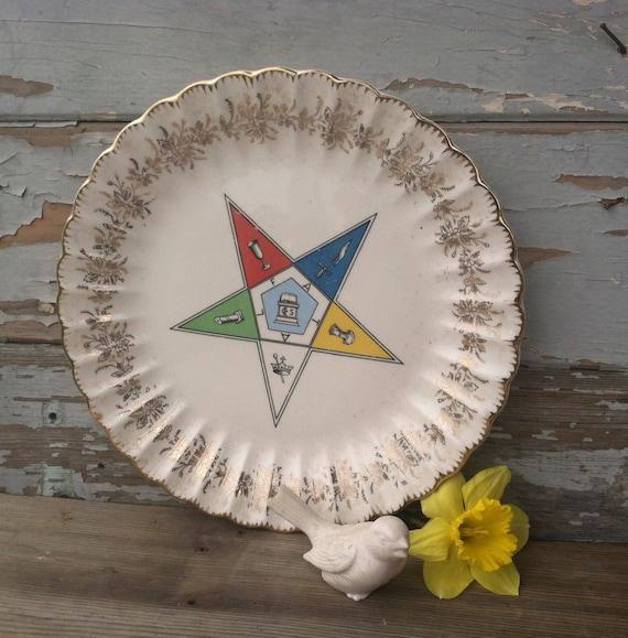 Https Etsy Com Listing 229987310 Vintage Masonic Decorative Plate Retro