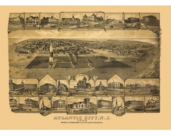 Vintage Map Of Columbus Georgia 1886 Muscogee County Aerial
