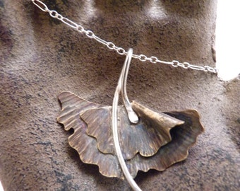Medium Ginkgo Leaf Necklace