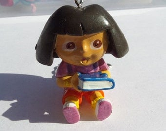 50mm. Dora the Explorer Chumky Necklace Pendant, doll/figurine, Dora, resin pendant for KID/girl/child jewelry Z30