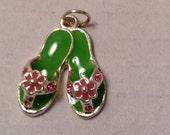 Rhinestone Flip flops or sandles Charm or pendant