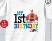 Farm Animals Birthday Shirt or Bodysuit - old mcdonald theme birthday shirt - Barnyard Birthday Shirt -