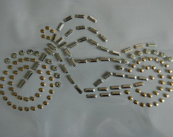 Silver and Gold Nailhead Motorcycle Heat Transfer
