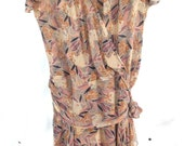 Frock ~ 1980's era Miss D by Oscar de la Renta Silk Chiffon Dress 1920's influence ~ Designer