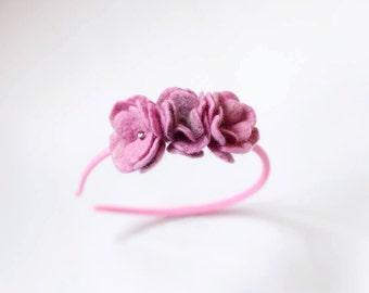 Baby girl Headband - Flower headband - Vintage inspired - Newborn Headband - Infant Headband - Headbands - Photo Prop - hair accessories