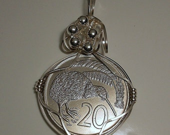 New Zealand Vintage Coin Pendant 1967