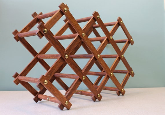 Wooden Wine Rack Vintage Wine Rack By Onceagainvintageshop
