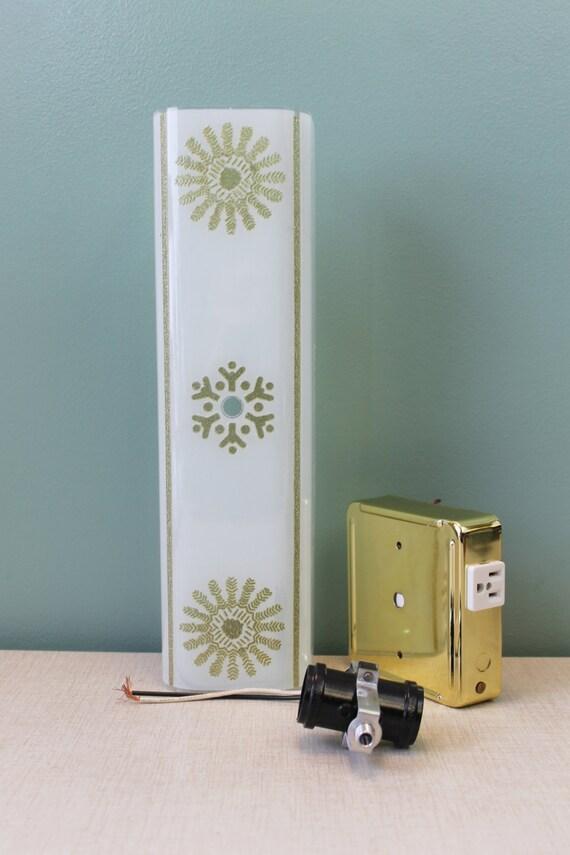 Mid century bathroom light vintage vanity by for Mid century bathroom lighting